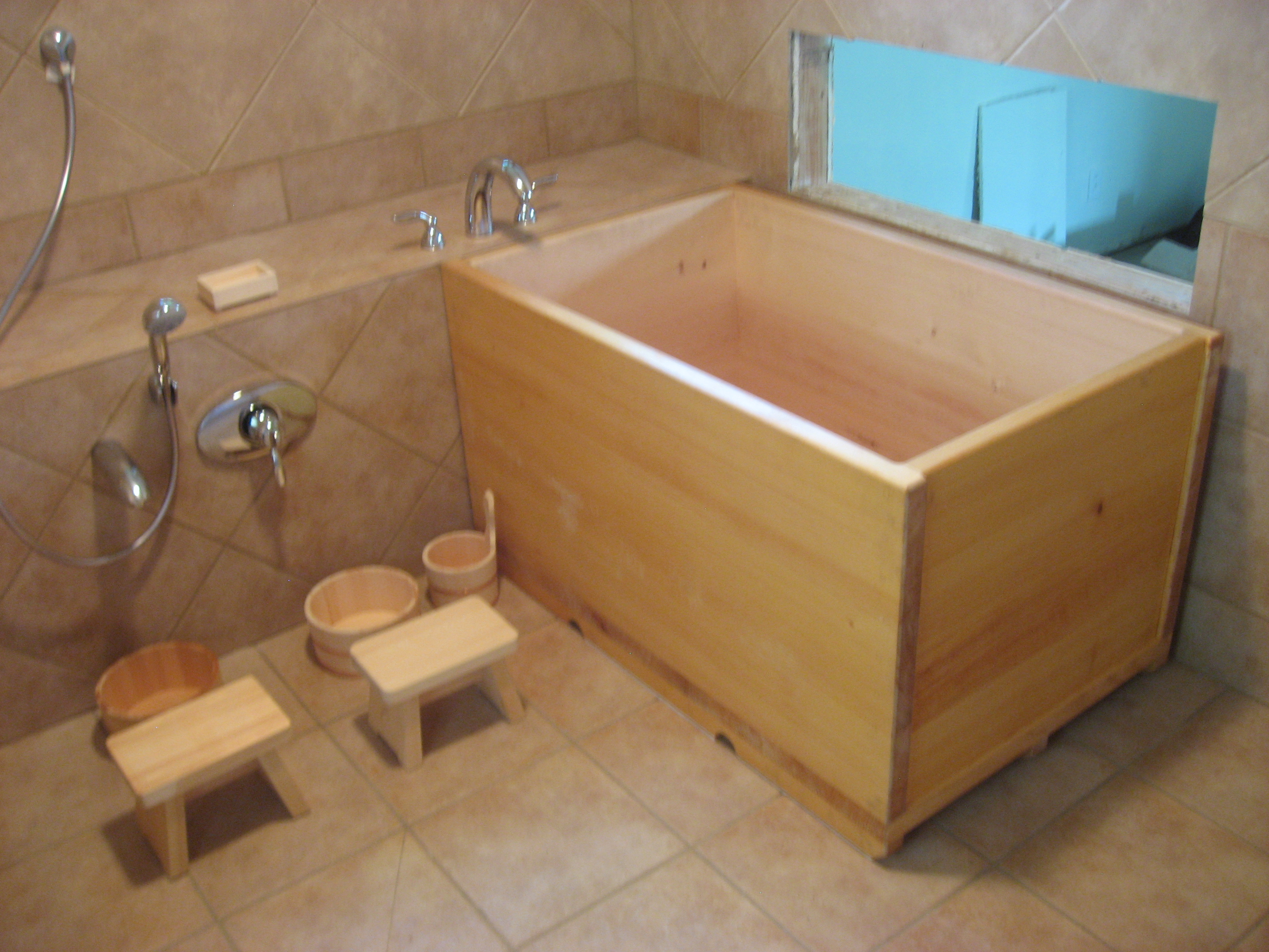 Machwerx blog archive ofuro for Bathtub in bathroom